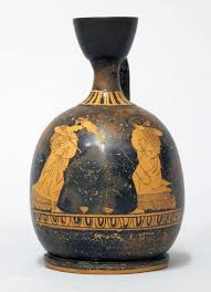 Terracotta <b>squat</b> lekythos (oil flask) — Google Arts & Culture
