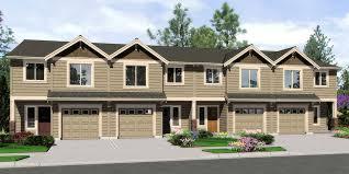 Plex House Plans  Multiplexes  QuadPlex PlansF  Fourplex plans  ft wide house plans  row home plans