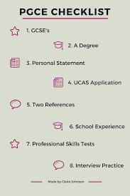 pgce application checklist the year before pgce checklist