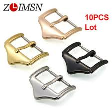 <b>10Pcs ZLIMSN Watch Buckle</b> Polished Solid Stainless Steel <b>Strap</b> ...