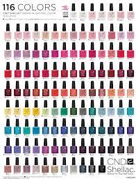 <b>CND Shellac</b> nail polish chart