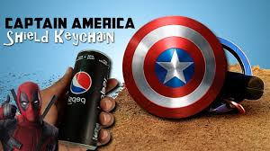 how to make <b>captain</b> america <b>shield</b> (<b>keychain</b>) - YouTube