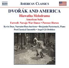 dvorak and america featuring the hiawatha melodrama is cd of dvorak and america cover