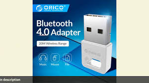 <b>ORICO BTA-409 Bluetooth 4.0</b> Dongle USB Adapter PC Wireless ...