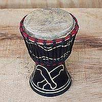 NOVICA Handcrafted Black and White <b>Painted Traditional Wood</b> ...