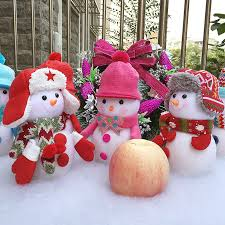 household dining table set christmas snowman knife: pcs lot high quality handmade snowman candy christmas eve bags gift bag fruits apple cover home table decoration supplies