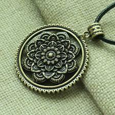 lanseis <b>10pcs</b> 3D Lotus Mandala flower <b>pendant</b> Mandalas <b>women</b> ...