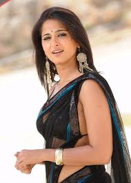 Anushka shetty in Black Saree Indian Hot Actress Pictures. Anushka shetty in Black Saree