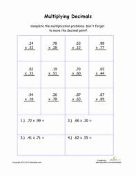 Practice Multiplying Decimals | Worksheet | Education.comFifth Grade Decimals Worksheets: Practice Multiplying Decimals