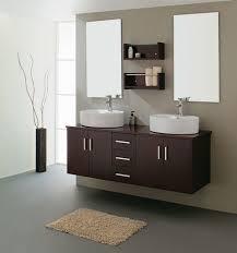 dashing espresso bathroom sink cabinets feats with mini brown fluffy rug on plain grey floor bathroom sink furniture cabinet