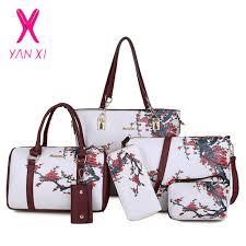 Chinese Style Floral Printing <b>Women Handbags</b> Shoulder <b>Bags</b> Set ...
