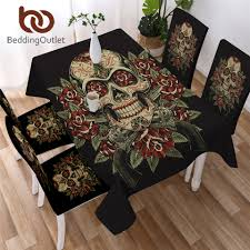 BeddingOutlet <b>Floral Skull</b> Tablecloth Flowers <b>Vintage</b> Waterproof ...