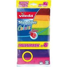 <b>Салфетка VILEDA Colors</b> (<b>Колорс</b>) из микрофибры 8 шт | www.gt ...