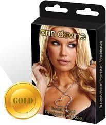<b>Цепочка</b> с большой <b>подвеской</b>-<b>сердцем Ann</b> Devine, золотой ...