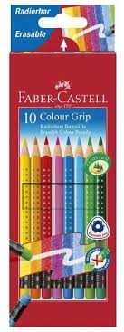 <b>Faber</b>-<b>Castell Цветные карандаши</b> Grip 2001, с ластиками <b>10</b> ...