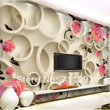 Wallpaper Decoration For Living Room Aliexpresscom Buy Custom Floral Wallpaper Roses Wallpaper For
