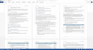 security plan ms word template instant ms word template red theme screenshots