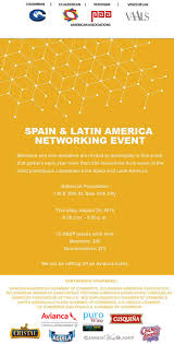 spain latin networking event venezuelan american association updated networking flyer