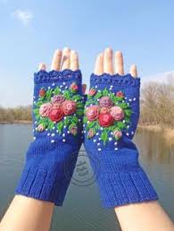 COZY CUFF HANDWARMERS. Hand knit one of a kind <b>wearable</b> ...