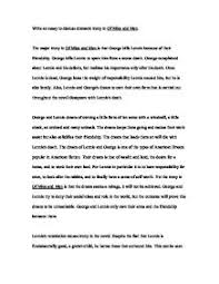 write an essay to discuss dramatic irony in of mice and men    page  zoom in