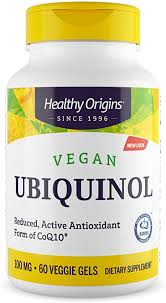 Healthy Origins - Natural <b>Vegan</b> Ubiquinol, 100mg x <b>60 Vegetarian</b> ...