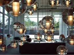 1 light clear cast glass ball pendant lamp with polished chrome canopy bulbs included ball pendant lighting