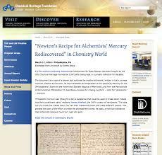 isaac newton darin hayton original chf webpage excerpting chemistry world article