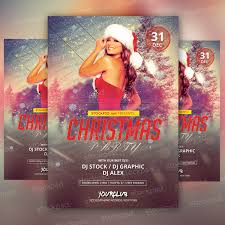 christmas party psd flyer on behance