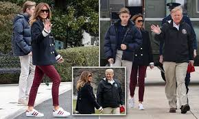 12-year-old Barron towers over mom <b>Melania</b> Trump as family ...