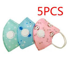 Children's Cotton Mouth Face Mask With 5 Pcs PM2.5 ... - Vova