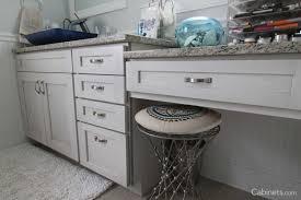 bathroom features gray shaker vanity: bathroom vanity cabinet shaker ii maple bright white brushed gray glaze