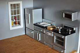 hobby lobby modern kitchen pots pans and baskets were not part of the set build dollhouse furniture