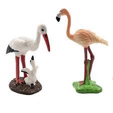 Miniature Bird Decorative Figurines, 2 Pcs <b>Simulation</b> Mini <b>Flamingo</b> ...