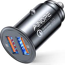 AINOPE USB <b>Car Charger</b>, [Dual <b>QC3</b>.<b>0</b> Port] 36W/6A [All Metal ...