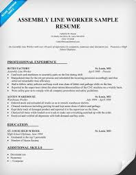 read more on assembly line worker resume sample resume sample resume production worker