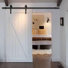 new 6 ft black modern antique style sliding barn wood door hardware closet set barn style sliding doors