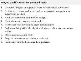project director job description   key job qualifications for project director