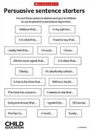 Good starting sentences for an essay   Persuasive Essay