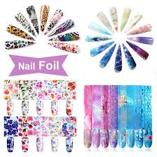 10Pcs/<b>16Pcs</b>/<b>Set Nail Foils</b> Colorful <b>Waterdrop</b> Flower Transfer ...