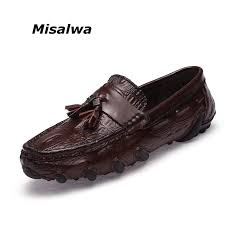 Misalwa Leather <b>Men Loafers Men</b> Tassel / Buckle Slip on ...