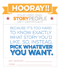 gift certificate storypeople out the certificate