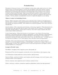 evaluation essay sample essay how to write an evaluation essay examples image resume
