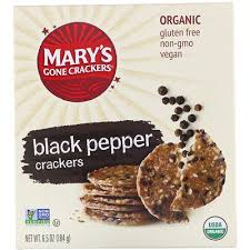 <b>Black Pepper Crackers</b>, <b>6.5</b> oz (184 g) | www.gt-a.ru
