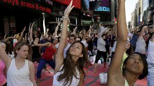women in their s leave jobs for one big reason and it s not epa04270965 women practice power yoga to celebrate the summer solstice in time square in new york