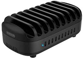 10 Ports Charging Station for Multiple Devices - <b>NTONPOWER USB</b> ...