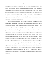 comparative essay  a thousand acres and king learin king lear  appearance versus reality is a
