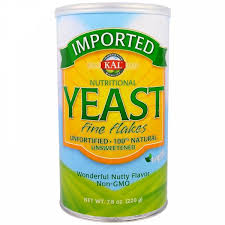 KAL, <b>Imported</b>, <b>пищевые дрожжи</b>, <b>мелкие</b> хлопья, 7.8 унции(220 г)