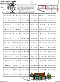 Algebra Help Packets by Math CrushPreview of math art worksheet, Inequality Puzzle - Level 1