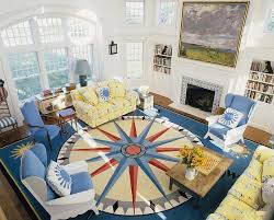 contemporary living room with a nautical vibe design anthony baratta blue yellow living room