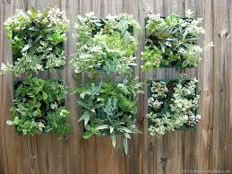 outdoor living wall planters contemporary pots